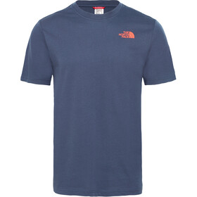 The North Face Redbox SS Tee Men urban navy/fiery red